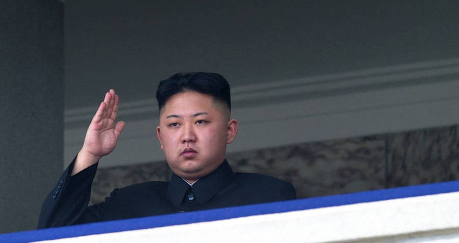 Kim Jong Un Balcony Salute North Korea Og