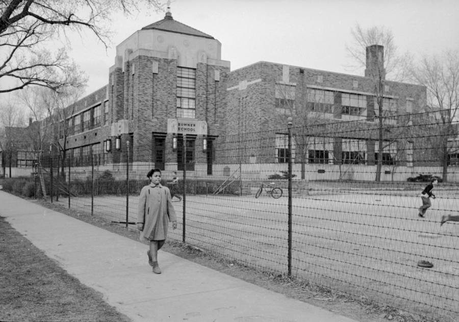 Linda Outside Sumner Elementary