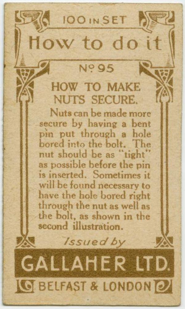 Make Nuts Secure Back