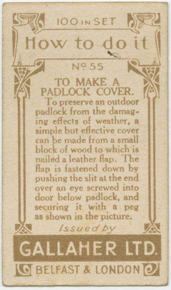 Make Pad Lock Cover Back