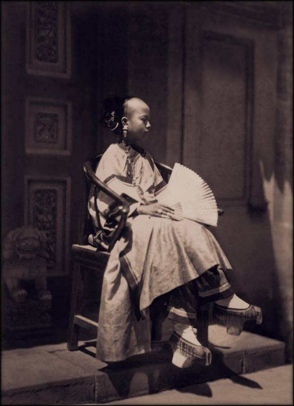 Manchu Girl Sitting
