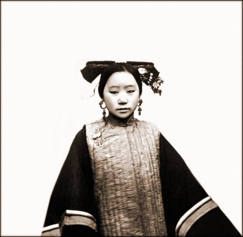 Manchu Girl With Coiffure