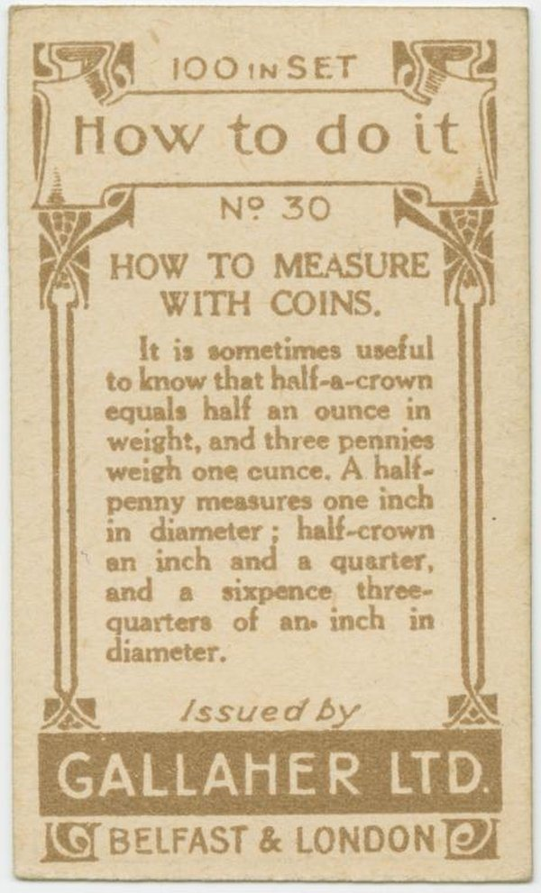 Measure With Coins Back