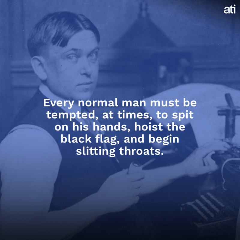 Mencken Slitting Throats
