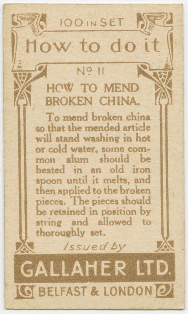 Mend Broken China Back