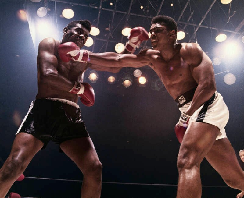 Muhammad Ali Punches Floyd Patterson