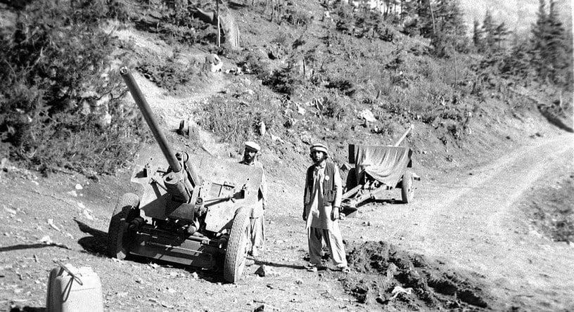 Mujahideen With Captured Gun