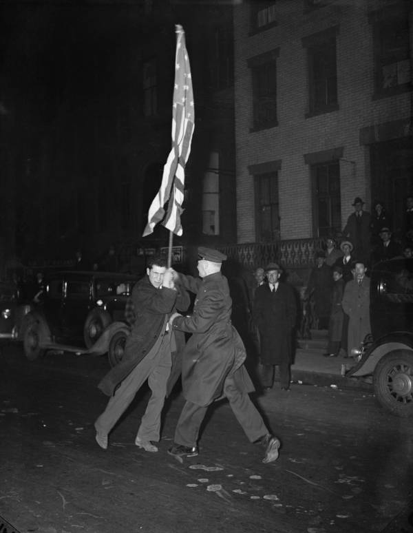 Police Protest Flag