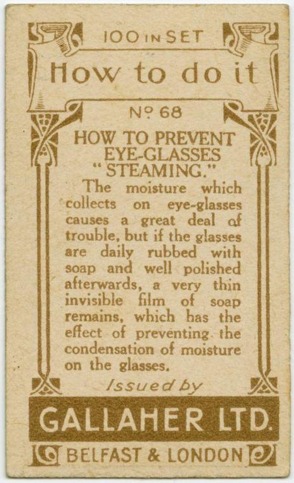 Prevent Glasses Steaming Back