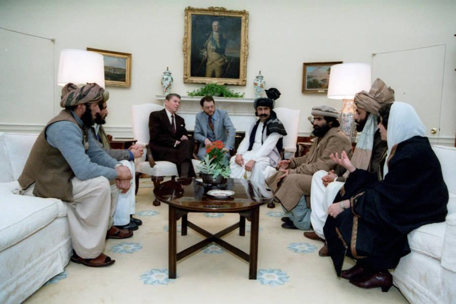 Reagan With Mujahideen