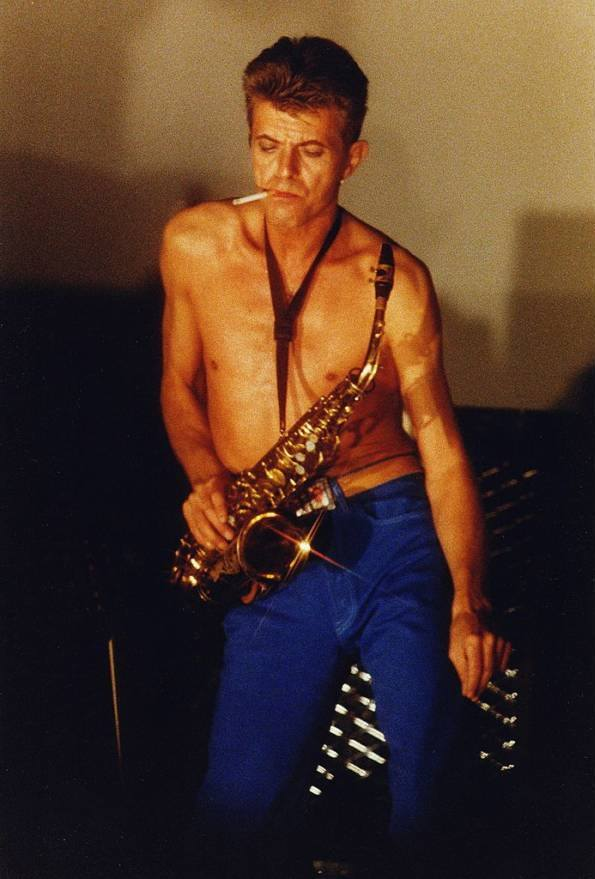 Shirtless Bowie Sax