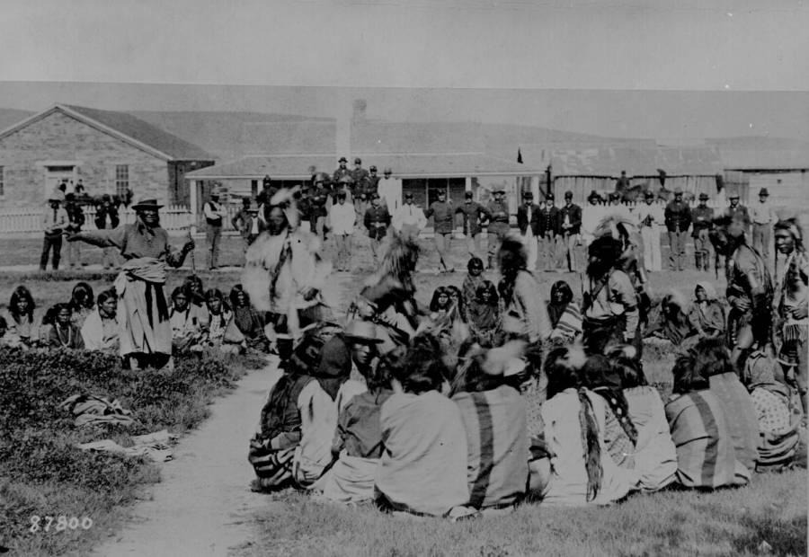 Shoshone Indians On Reservation