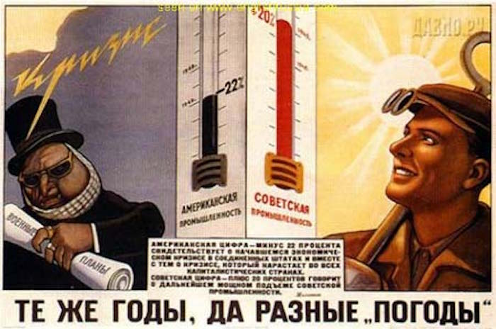 Soviet Propaganda Posters Thermometer