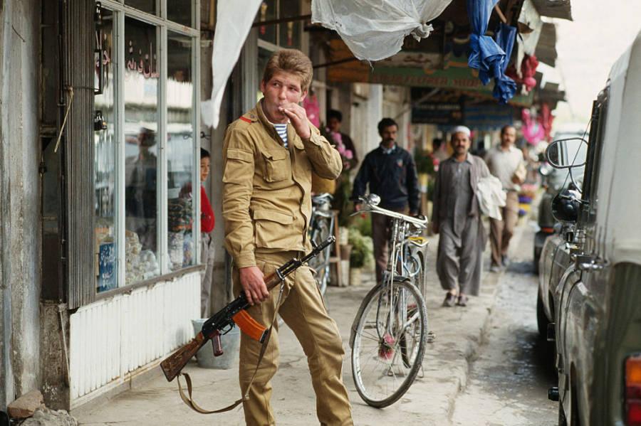 Soviet Soldier In Kabul