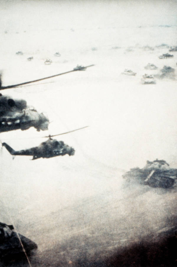 Soviet Tanks And Helicopters