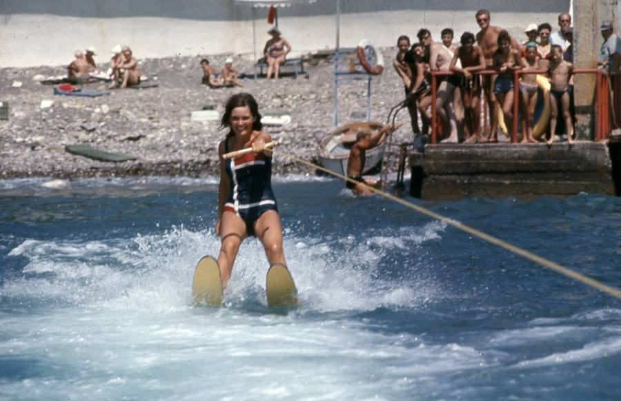 Soviet Waterskiing Line