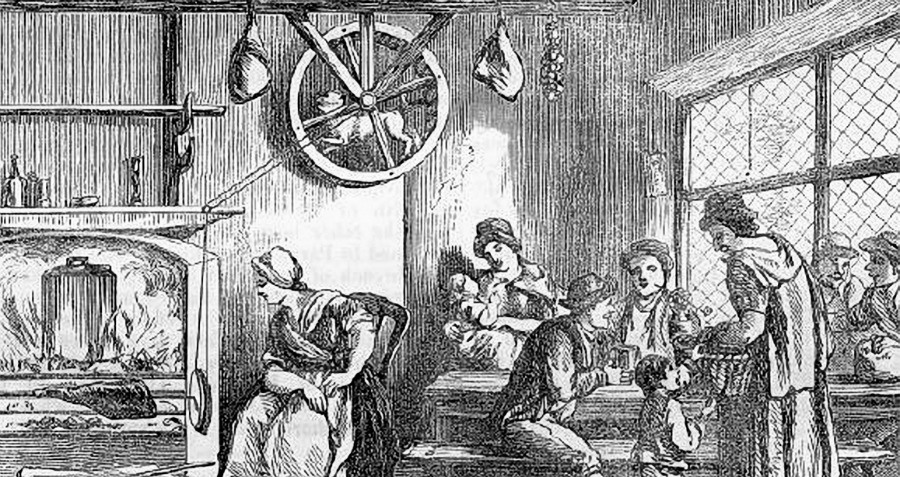 Turnspit Dog Machines Powered Walking