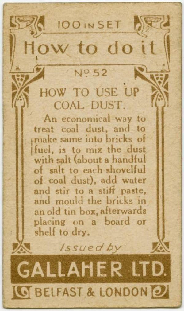 Use Up Coal Dust Back