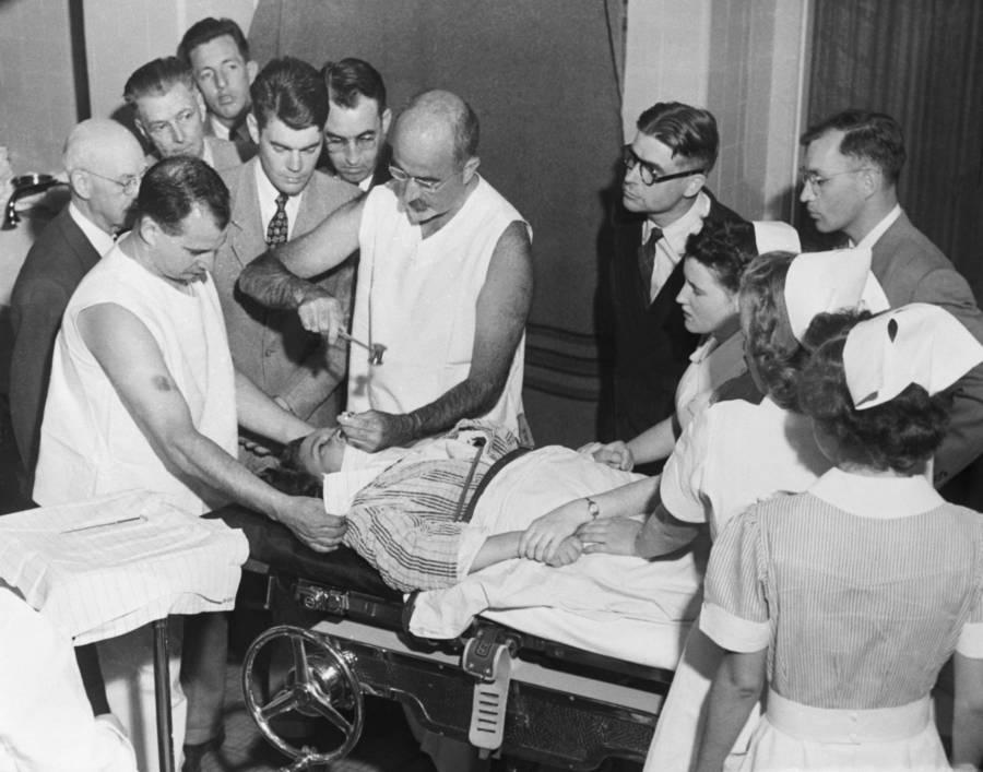 Walter Freeman Performing Lobotomy