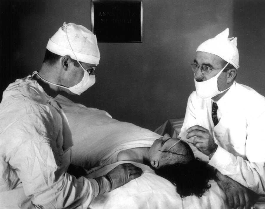 Walter Freeman With Patient