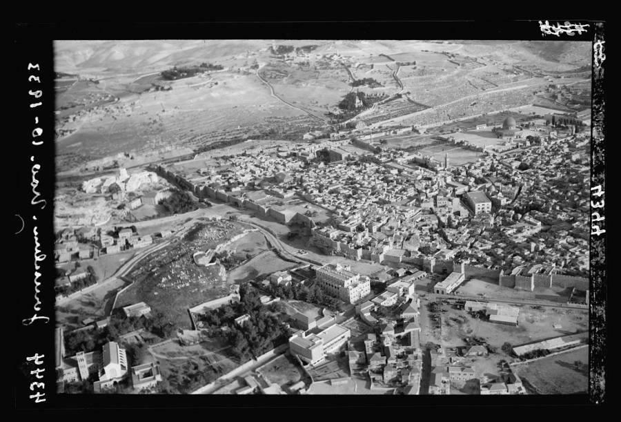 Aerial Jerusalem Buildings