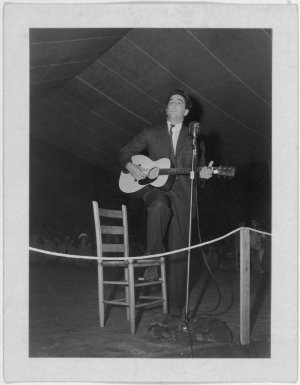 Alan Lomax Playing Guitar