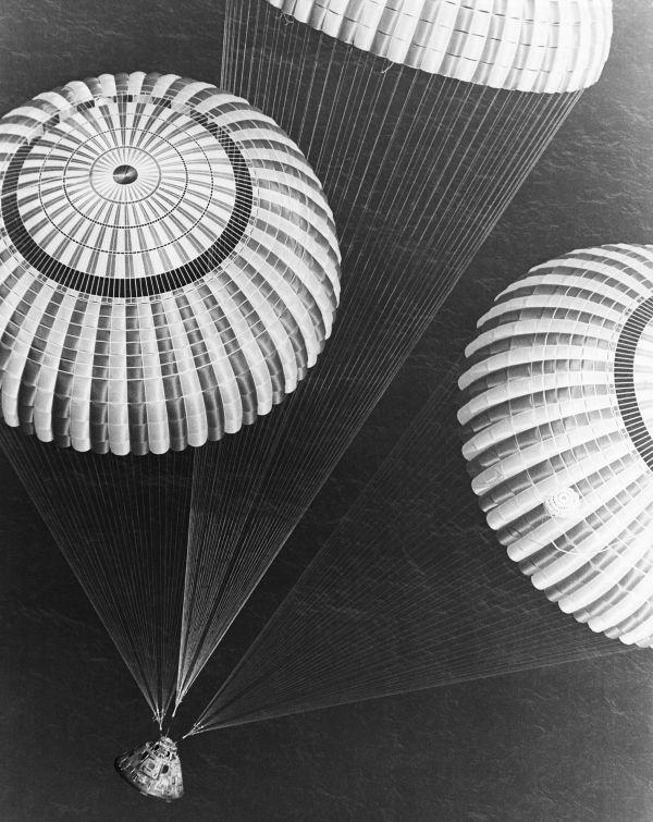 Apollo Seventeen Parachuting