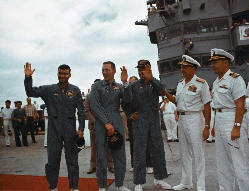 Apollo Thirteen Astronauts Waving