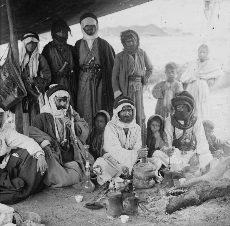 Bedouin Sheiks Preparing Coffee