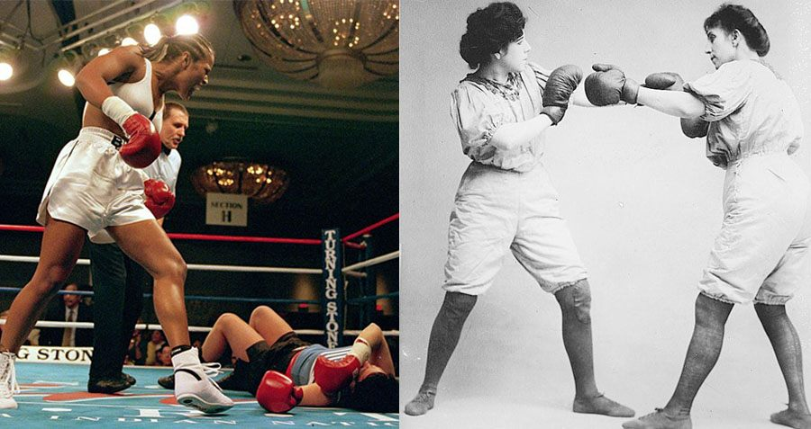 Shiv Naresh Teens Boxing Gloves 12oz: Women's Boxing: A Surprising And Brutal Photo History