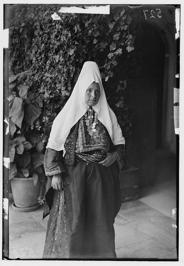 Bethlehem Woman Before Vines
