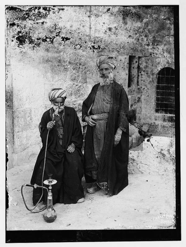 Bethlehemite Men With Hookah