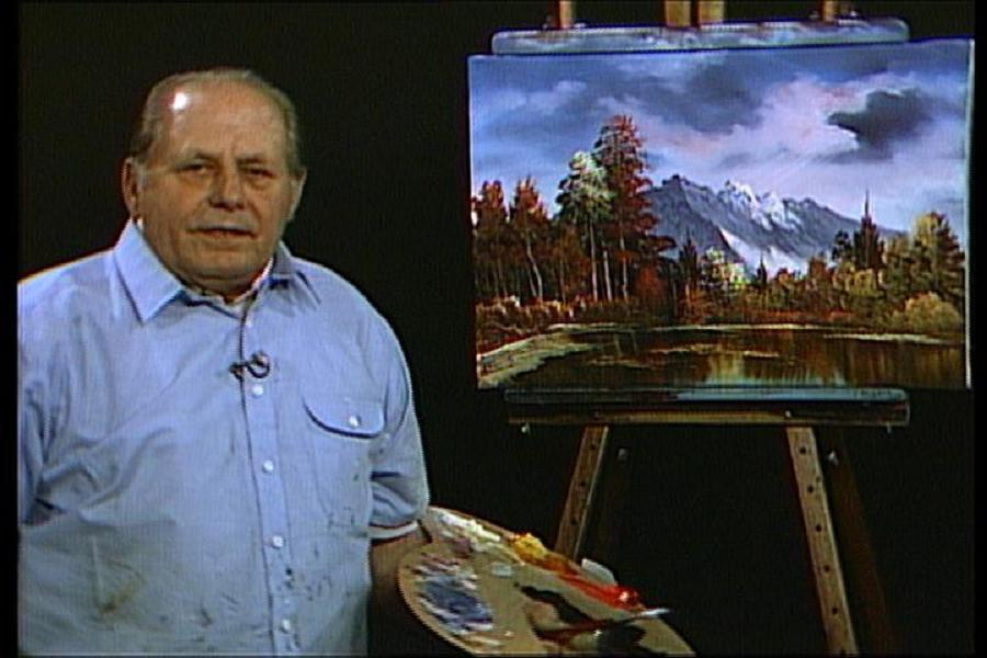 Bob ross biography the man behind the happy little trees for Oil painting lessons near me