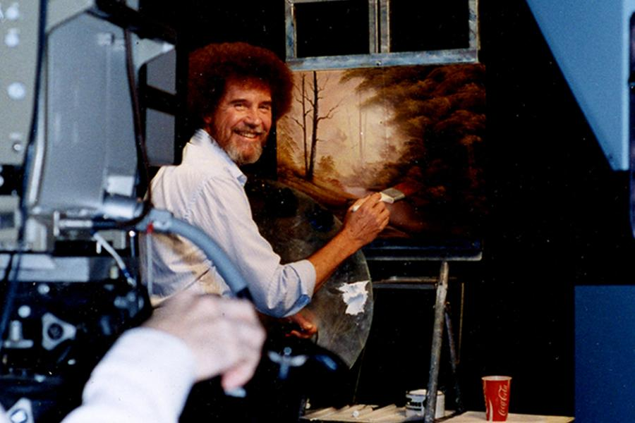 Bob Ross On The Set Of The Joy Of Painting