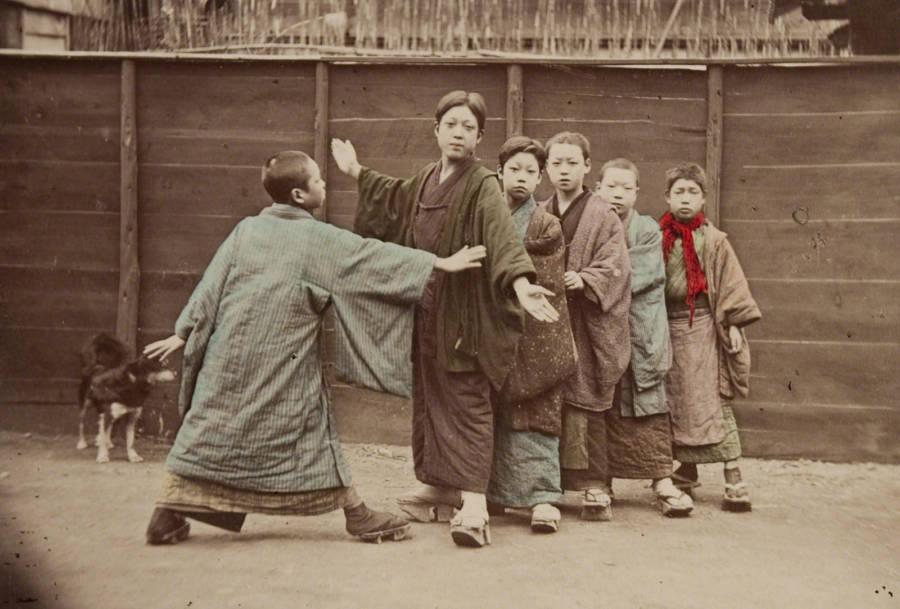Boys Playing Kotoro