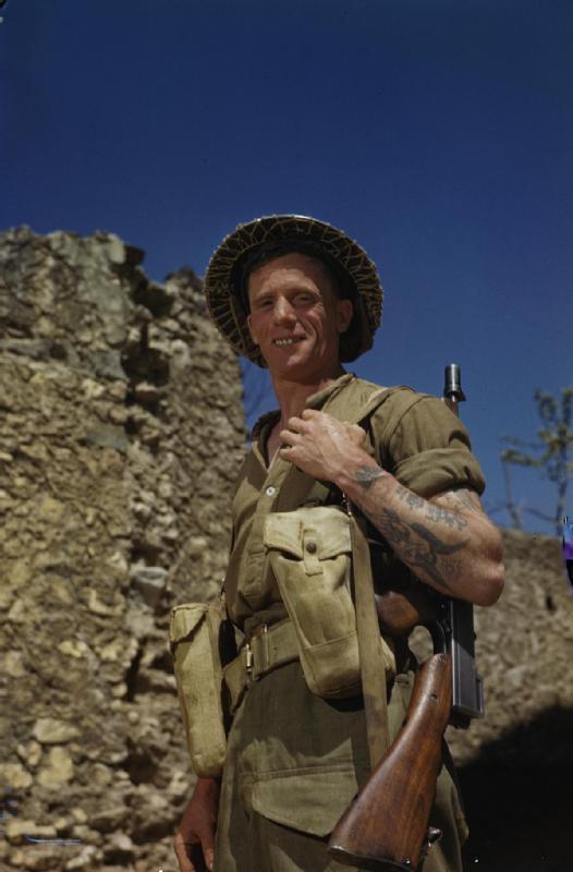 British Soldier Smiling