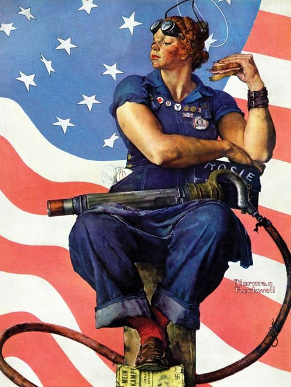 George Rockwell Version Of Rosie The Riveter