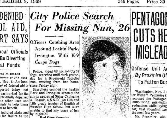 Catherine Cesnik Missing Nun Baltimore Sun