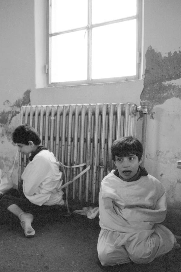 Children Tied To Radiator