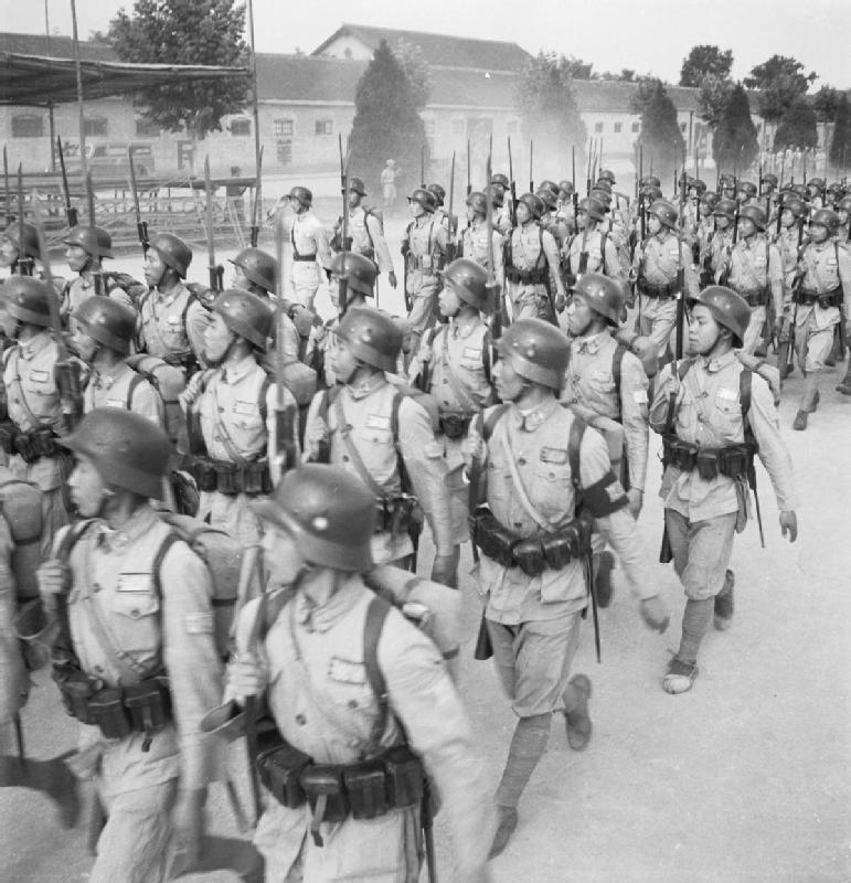 Chinese Troops Marching