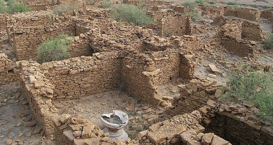 Close Up Kuldhara Indian Ruins Abandoned Mystery