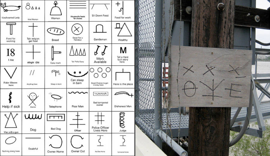 Symbols Done By The Homeless In 19th Century America