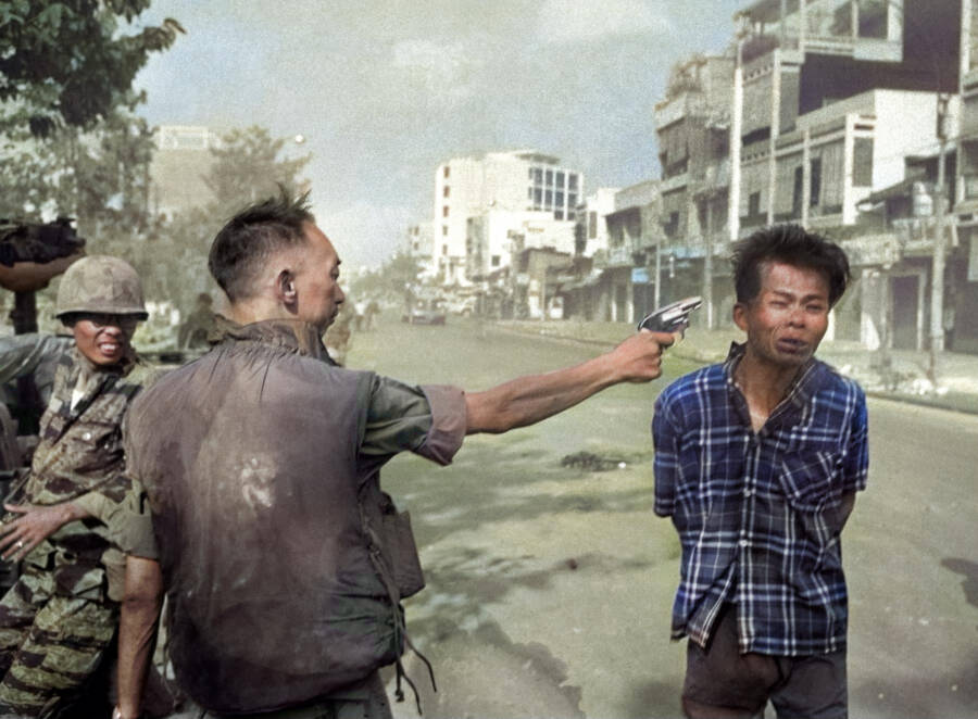 Colorized Saigon Execution Photo