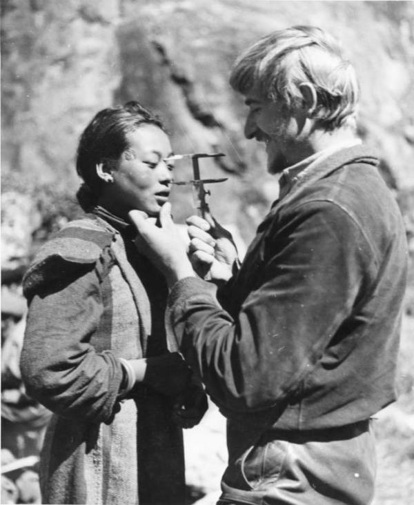 Craniology Measuring Tibetan Woman