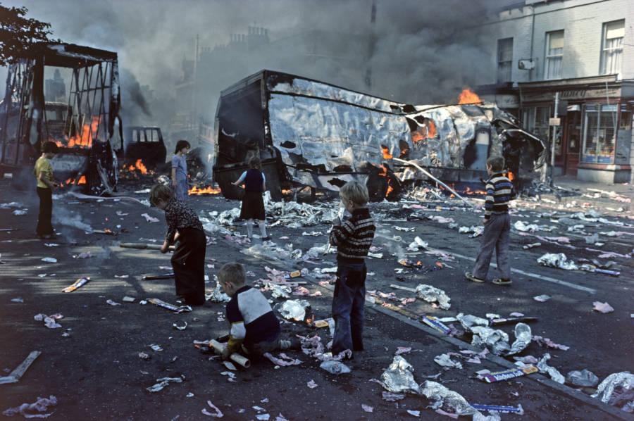 Debris Fire Street