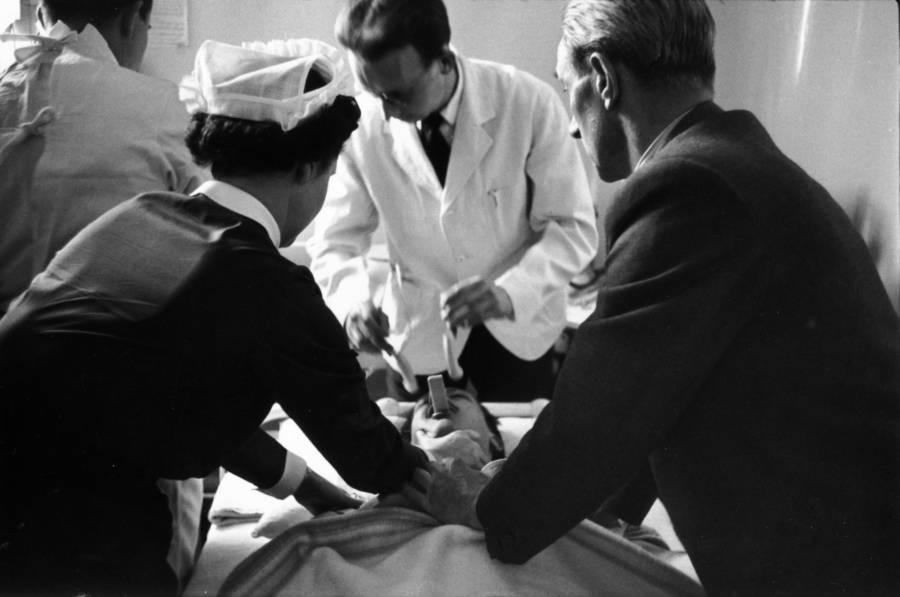 Doctors Patient Lying Down