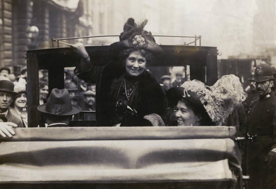 Emmeline Pankhurst In Car