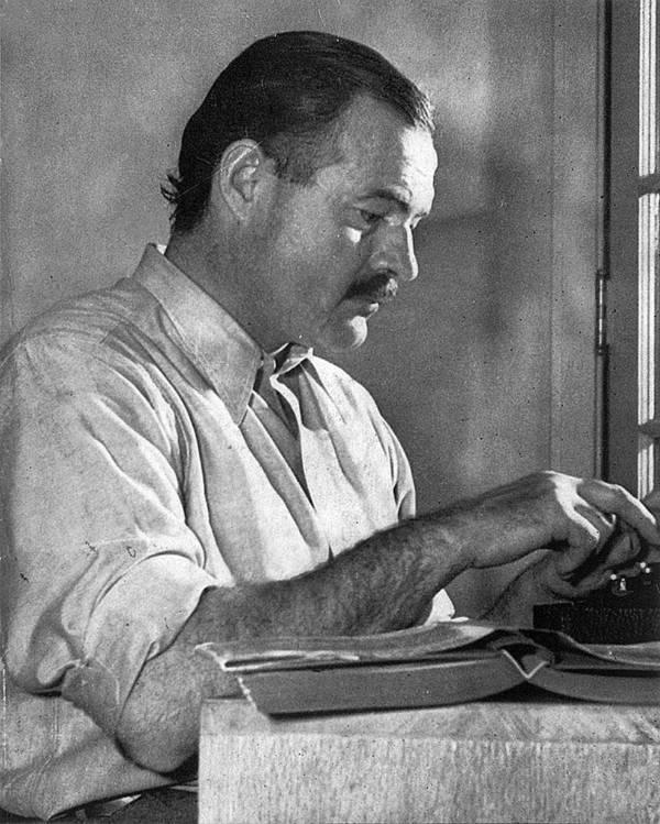 Ernest Hemingway At Desk