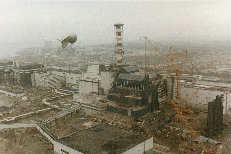 Aerial View Of Chernobyl After Explosion