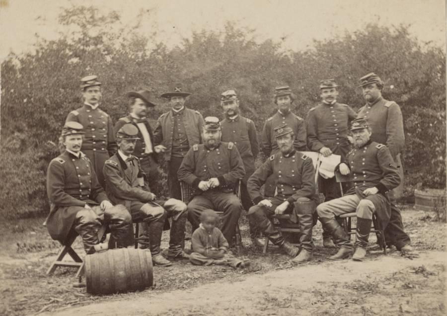 Generals With Servant Boy
